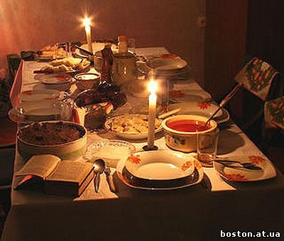 Свята вечеря 12 різдвяних страв